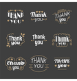 Collection of 9 Thank you labels emblems stickers vector image vector image