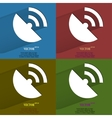 Color set GPSFlat modern web button with long vector image vector image