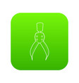 compass tool icon green vector image