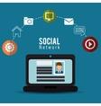 computer social network profile person online vector image