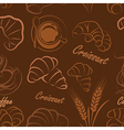 croissant seamless vector image vector image