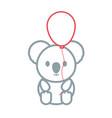 cute koala icon image vector image vector image