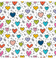cute seamless pattern with hand drawn hearts vector image