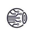 cyber eye symbol icon logo vector image