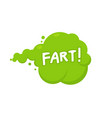 fart smoke cartoon icon stink fart bad smell vector image vector image