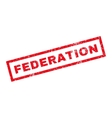 Federation Rubber Stamp vector image vector image