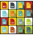 File format icons set in flat style vector image vector image