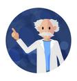 flat elderly pharmacist in bathrobe vector image vector image