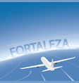 fortaleza flight destination vector image vector image