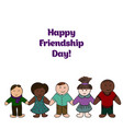 friendship day picture for your design card cover vector image
