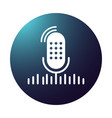 gradient table studio microphone with sound vector image