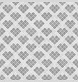 gray diamond pattern with hearts seamless vector image