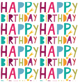 happy birthday brown paper vector image