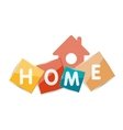 Home geometric banner design vector image vector image