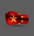 isolated boxing glove peoples republic china flag vector image