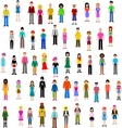 Many different people vector | Price: 1 Credit (USD $1)