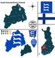map of south ostrobothnia finland vector image vector image