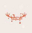 merry christmas typographical design vector image vector image