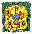 Monkey new year 2016 vector image vector image