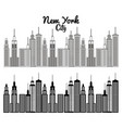 new york city scene vector image