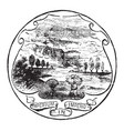 official seal us state ohio in 1889 vector image vector image