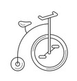 old bicycle line icon vector image vector image