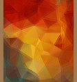 orange and yellow triangle background vector image vector image