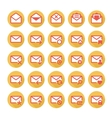 Orange mail icons vector image vector image
