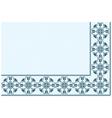 ornament blue pixel vector image vector image