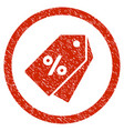 percent discount tags rounded grainy icon vector image