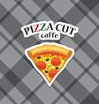piece of pizza realistic icon vector image