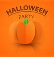 pumpkin origami style icon halloween vector image vector image