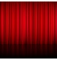 Realistic Red Theatrical Closed Curtain vector image