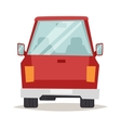 Red cartoon car back view design flat vector image vector image