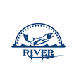 river icon vector image