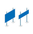 road signs isometric set street object for highway vector image vector image