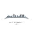 San Antonio Texas city skyline silhouette
