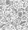 Seamless Doodles Christmas Pattern vector image vector image