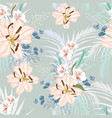 seamless floral pattern with retro flowers vector image