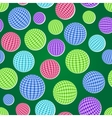 seamless pattern set with striped balls vector image vector image