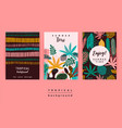 set abstract creative templates with tropical vector image vector image