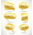 set golden speech bubble vector image vector image