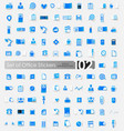 set of office stickers vector image vector image