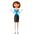shocked young businesswoman vector image