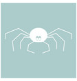 spider the white color icon vector image vector image