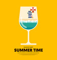 summer time and happy holiday poster template vector image vector image