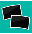 Two rectangular instant photos Flat design vector image vector image