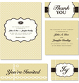 Vintage business cards vector image