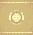 Vintage design emblem for baked goods vector image