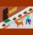 volunteering help homeless animals vector image vector image